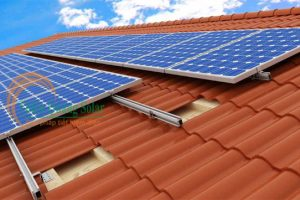 Chân L mái ngói năng lượng mặt trời