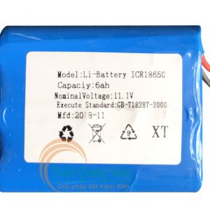 Pin Lithium 11.1V 6AH