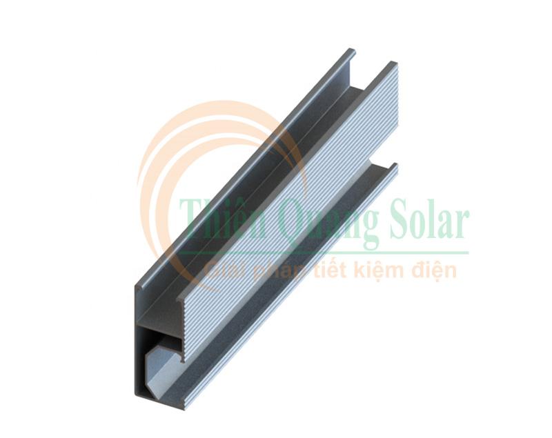 Rail nhôm solar (Thanh rail nhôm pin năng lượng mặt trời)
