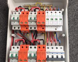 Bộ tủ điện solar 10kw  3 pha 4 string